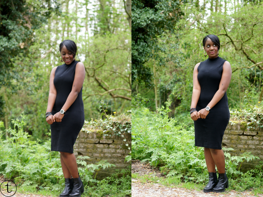 little black dress from primark and h&m vest