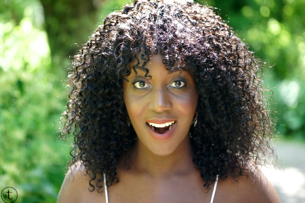 close up summer look kinky hair extensions from aliexpress