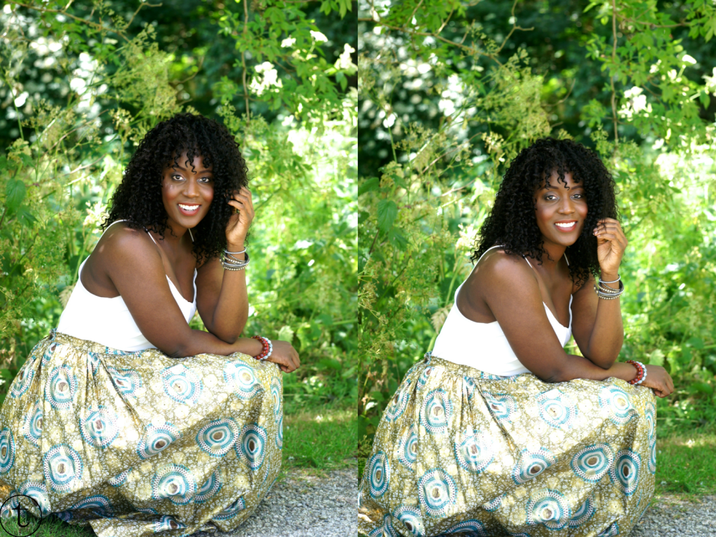 outfit post wearing white h&m top and african print maxi skirt summer look