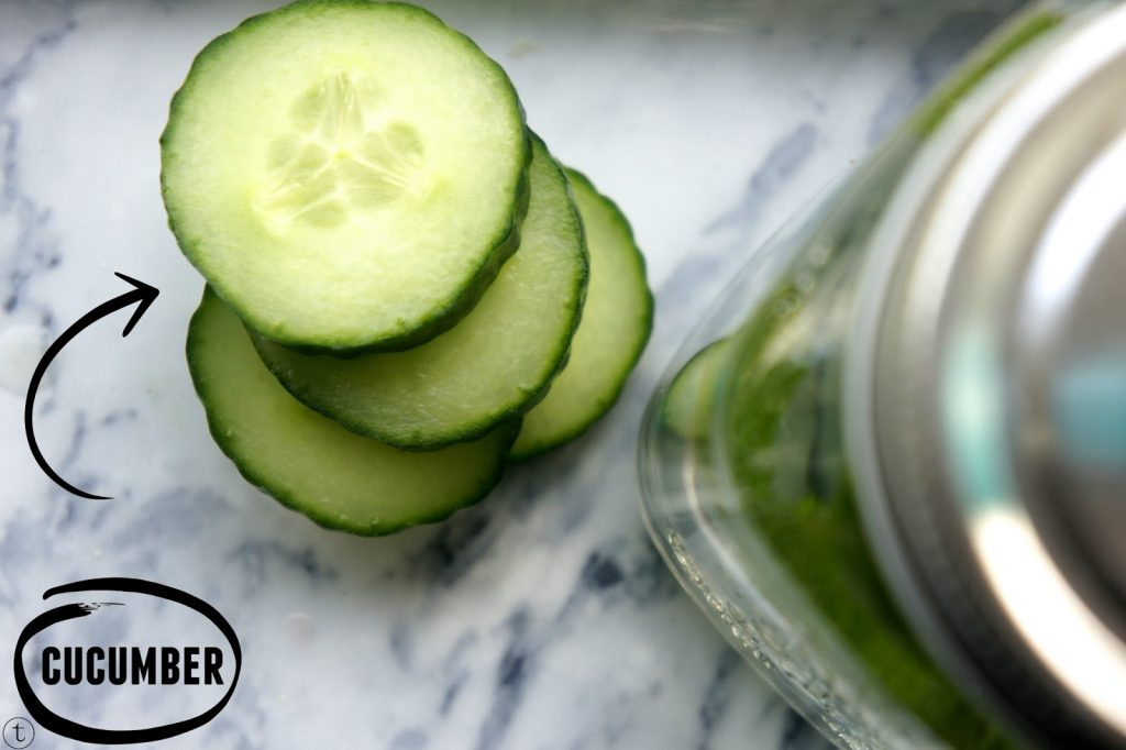 infused water with cucumbers water tip