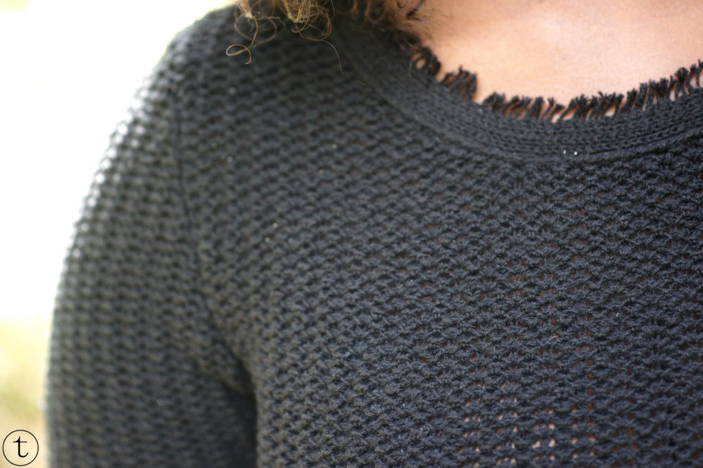 close up of the black dress from zara outfit post