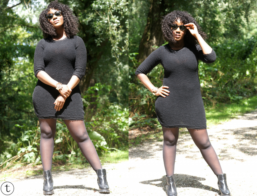 wearing a little black dress from zara look of the day