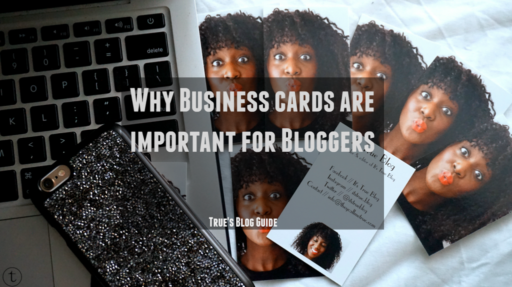 why business cards are important for bloggers blogging tips