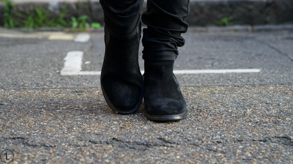 outfit post details h&m black leather boots