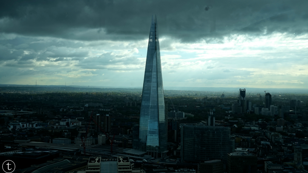 view of the shard from the sky garden london at fenchurch street