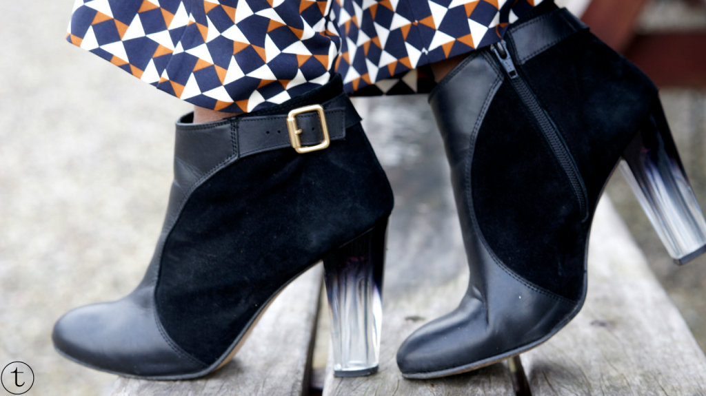 details asos black boots with ombre heels