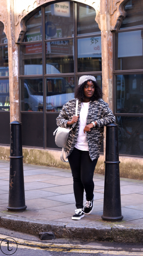 outfit post in east london fashion street trudy danso