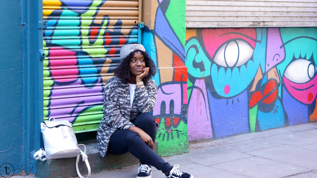 street art in east london outfit post fashion blogger