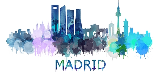 madrid skyline drawing