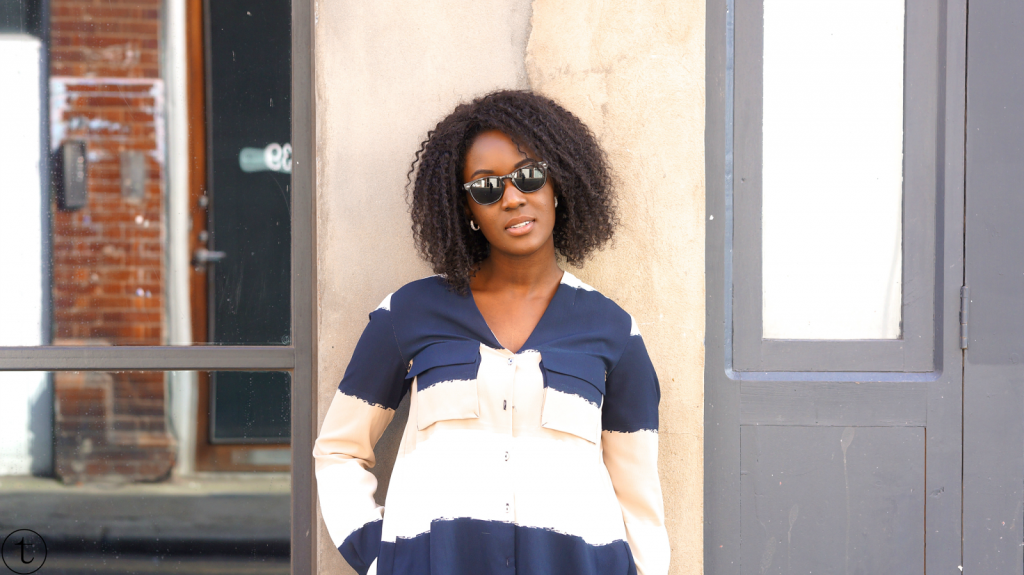 outfit post wearing colorblock zara top trudy danso