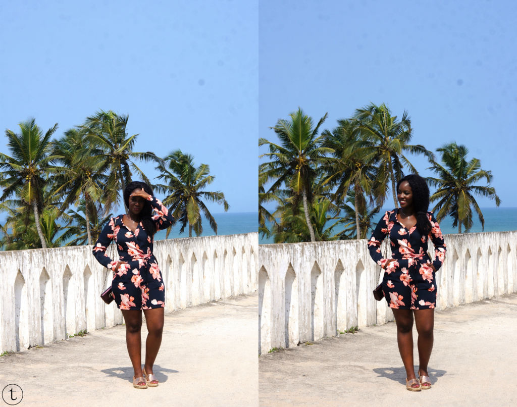 one fo the most beautiful beaches in ghana (africa), elmina castle