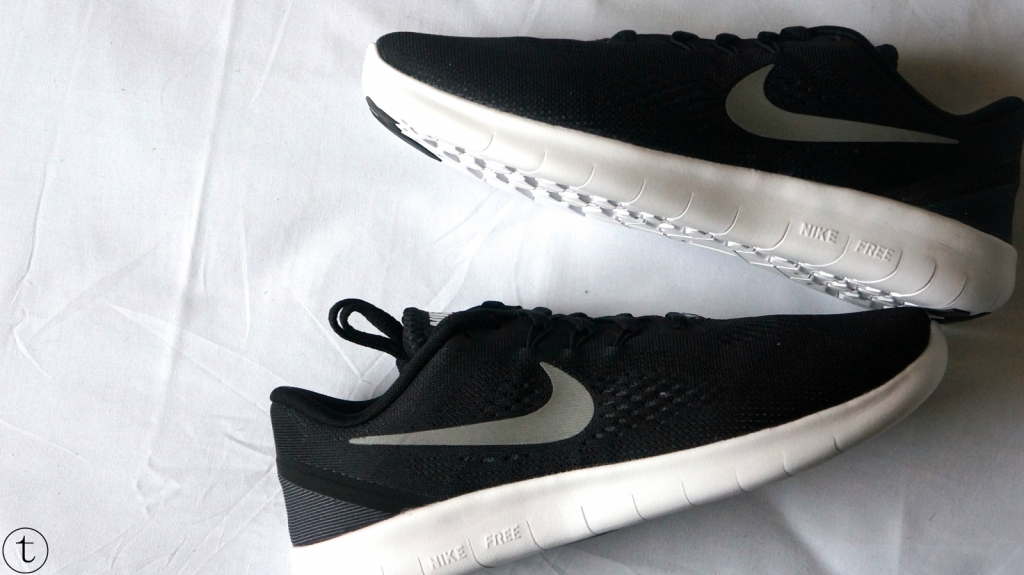 black nike free run sneakers from john lewis