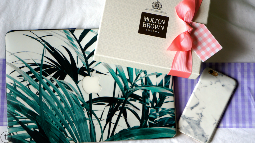 win the caseapp products and the molton brown hand cream giftset